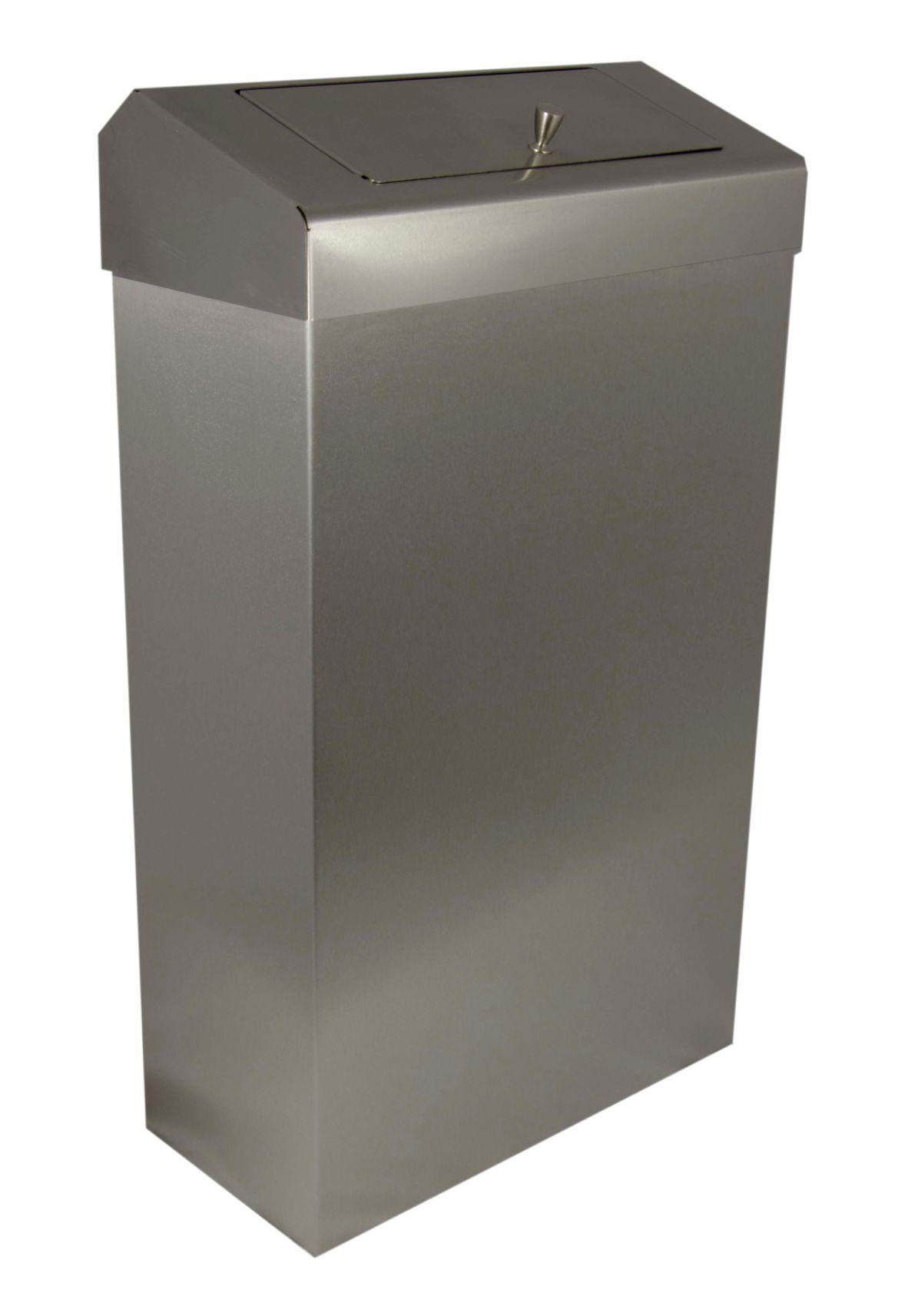 Slim stainless steel sanitary waste bin pl72mbs - Slimline waste bin ...