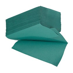 Interleaved  I/Fold Paper Hand Towels 1ply Green X 5000